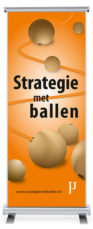 Roll-up banner Strategie met Ballen