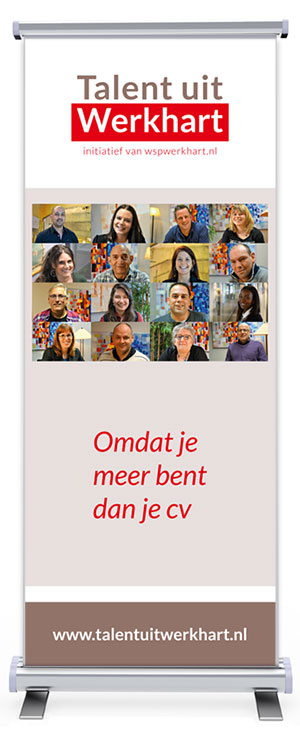 Roll-up banner Talent uit Werkhart