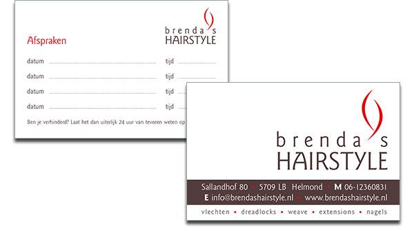 Visitekaartje Brenda's Hairstyle