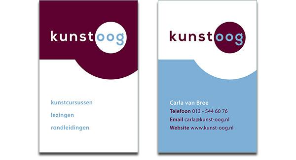 Visitekaartje Kunstoog
