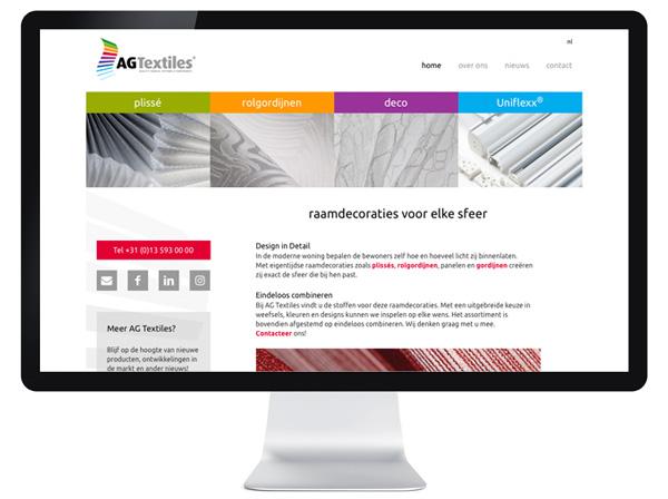 website AG Textiles - Tilburg