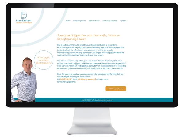 website Buro Derksen - Tilburg