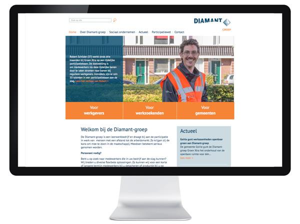 website Diamant-groep - Tilburg
