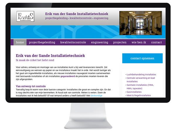 website Erik van der Sande Installatietechniek
