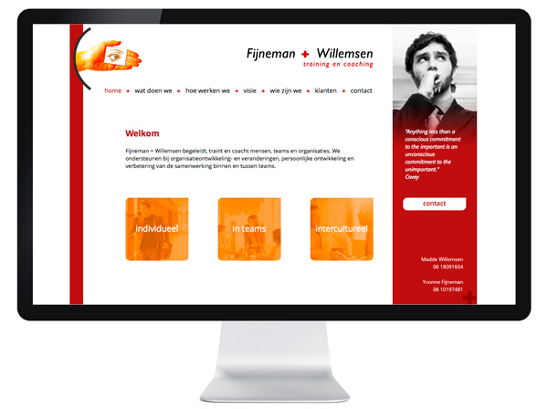 website Fijneman en Willemsen