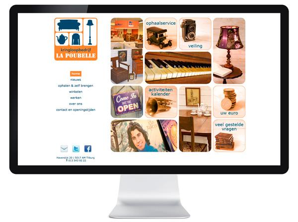 website Kringloopwinkel La Poubelle - Tilburg