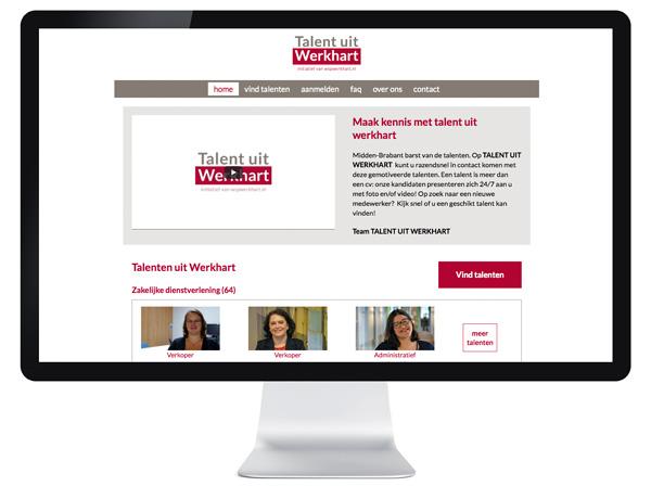 website Talent uit Werkhart - Tilburg en omgeving