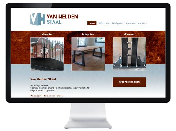 website Van Helden Staal - Tilburg